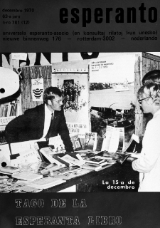 Esperanto : revuo internacia : oficiala organo de Universala Esperanto Asocio. Jaro 63, n. 781 (1970)