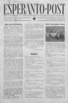 Esperanto Post. Jg. 1, nr 1 (1948)
