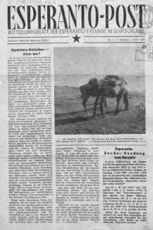 Esperanto Post. Jg. 2, nr. 1 (1949)