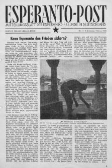 Esperanto Post. Jg. 2, nr. 2 (1949)