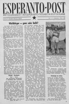 Esperanto Post. Jg. 2, nr. 3 (1949)