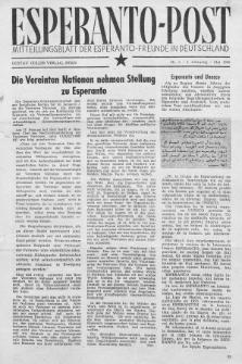 Esperanto Post. Jg. 2, nr. 5 (1949)