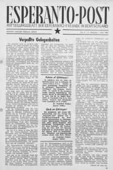 Esperanto Post. Jg. 2, nr. 6 (1949)