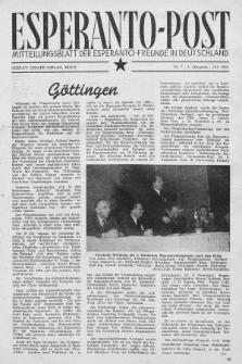 Esperanto Post. Jg. 2, nr. 7 (1949)
