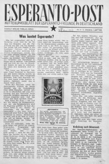 Esperanto Post. Jg. 2, nr. 8 (1949)