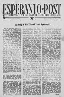 Esperanto Post. Jg. 2, nr. 9 (1949)