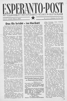 Esperanto Post. Jg. 2, nr. 11/12 (1949)