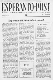 Esperanto Post. Jg. 3, nr. 1 (1950)