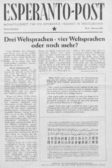 Esperanto Post. Jg. 3, nr. 2 (1950)