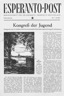 Esperanto Post. Jg. 3, nr. 7 (1950)