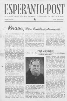 Esperanto Post. Jg. 3, nr. 8 (1950)