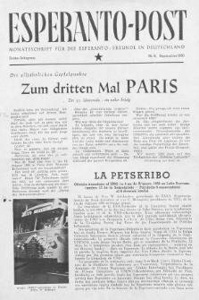 Esperanto Post. Jg. 3, nr. 9 (1950)