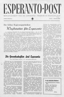 Esperanto Post. Jg. 3, nr. 10 (1950)