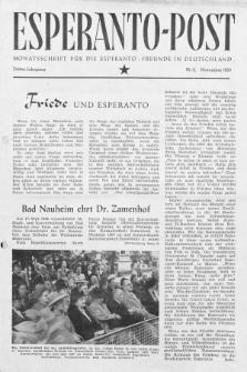 Esperanto Post. Jg. 3, nr. 11 (1950)
