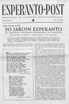 Esperanto Post. Jg. 4, nr. 5 (1951)