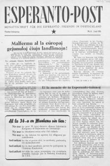 Esperanto Post. Jg. 4, nr. 6 (1951)
