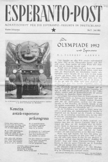Esperanto Post. Jg. 4, nr. 7 (1951)