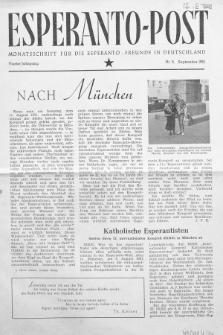 Esperanto Post. Jg. 4, nr. 9 (1951)