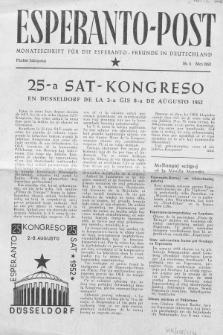 Esperanto Post. Jg. 5, nr. 5 (1952)