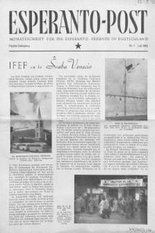 Esperanto Post. Jg. 5, nr. 7 (1952)