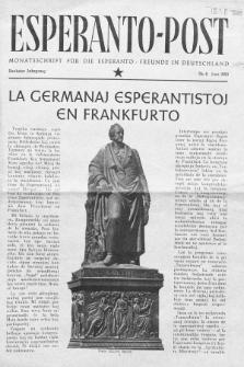 Esperanto Post. Jg. 6, nr. 6 (1953)