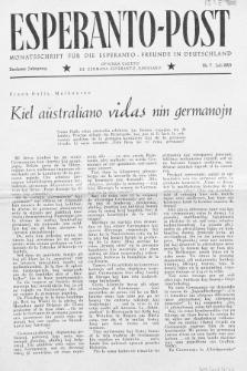 Esperanto Post. Jg. 6, nr. 7 (1953)