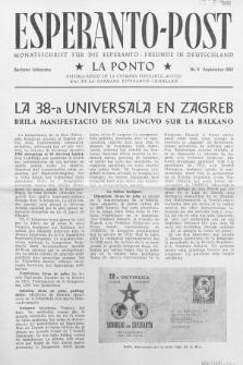 Esperanto Post. Jg. 6, nr. 9 (1953)