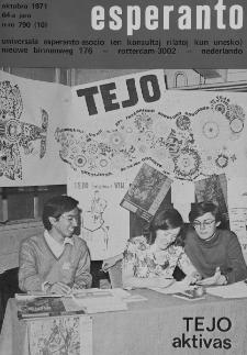 Esperanto : revuo internacia : oficiala organo de Universala Esperanto Asocio. Jaro 64, n. 790 (1971)