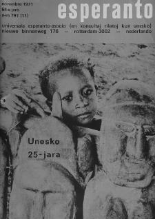 Esperanto : revuo internacia : oficiala organo de Universala Esperanto Asocio. Jaro 64, n. 791 (1971)