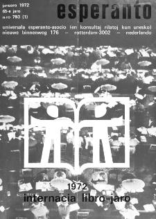 Esperanto : revuo internacia : oficiala organo de Universala Esperanto Asocio. Jaro 65, n. 793 (1972)