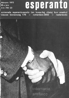 Esperanto : revuo internacia : oficiala organo de Universala Esperanto Asocio. Jaro 65, n. 794 (1972)