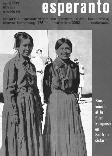 Esperanto : revuo internacia : oficiala organo de Universala Esperanto Asocio. Jaro 65, n. 796 (1972)