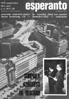 Esperanto : revuo internacia : oficiala organo de Universala Esperanto Asocio. Jaro 66, n. 813 (1973)