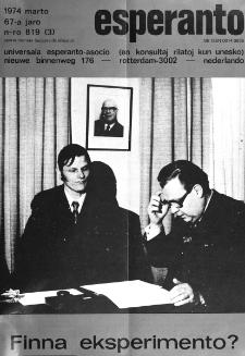 Esperanto : revuo internacia : oficiala organo de Universala Esperanto Asocio. Jaro 67, n. 819 (1974)