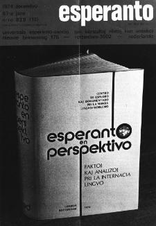 Esperanto : revuo internacia : oficiala organo de Universala Esperanto Asocio. Jaro 67, n. 828 (1974)