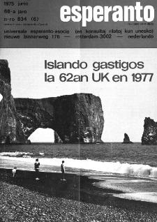 Esperanto : revuo internacia : oficiala organo de Universala Esperanto Asocio. Jaro 68, n. 834 (1975)