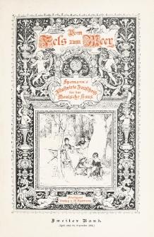 Vom Fels zum Meer. Bd. 2 (April/Septemper1885)
