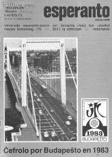 Esperanto : revuo internacia : oficiala organo de Universala Esperanto Asocio. Jaro 76, n. 925 (1983)