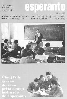 Esperanto : revuo internacia : oficiala organo de Universala Esperanto Asocio. Jaro 76, n. 927 (1983)