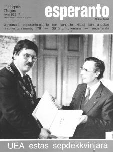 Esperanto : revuo internacia : oficiala organo de Universala Esperanto Asocio. Jaro 76, n. 928 (1983)
