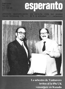 Esperanto : revuo internacia : oficiala organo de Universala Esperanto Asocio. Jaro 76, n. 930 (1983)