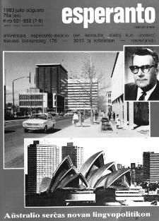 Esperanto : revuo internacia : oficiala organo de Universala Esperanto Asocio. Jaro 76, n. 931/932 (1983)