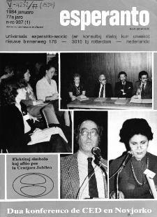 Esperanto : revuo internacia : oficiala organo de Universala Esperanto Asocio. Jaro 77, n. 937 (1984)