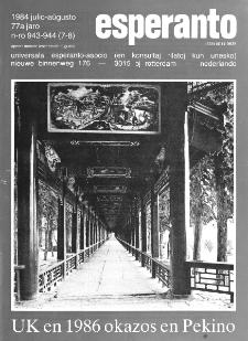 Esperanto : revuo internacia : oficiala organo de Universala Esperanto Asocio. Jaro 77, n. 943/944 (1984)