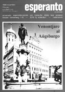 Esperanto : revuo internacia : oficiala organo de Universala Esperanto Asocio. Jaro 77, n. 947 (1984)