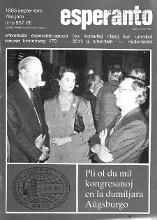 Esperanto : revuo internacia : oficiala organo de Universala Esperanto Asocio. Jaro 78, n. 957 (1985)