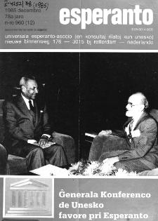 Esperanto : revuo internacia : oficiala organo de Universala Esperanto Asocio. Jaro 78, n. 960 (1985)
