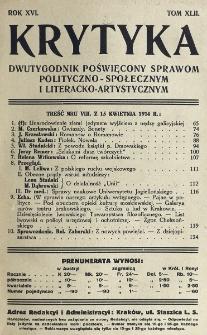 Krytyka : miesięcznik społeczny, naukowy i literacki. R. 16, z. 2 (1914)
