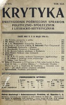 Krytyka : miesięcznik społeczny, naukowy i literacki. R. 16, z. 4 (1914)