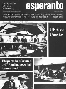 Esperanto : revuo internacia : oficiala organo de Universala Esperanto Asocio. Jaro 79, n. 961 (1986)